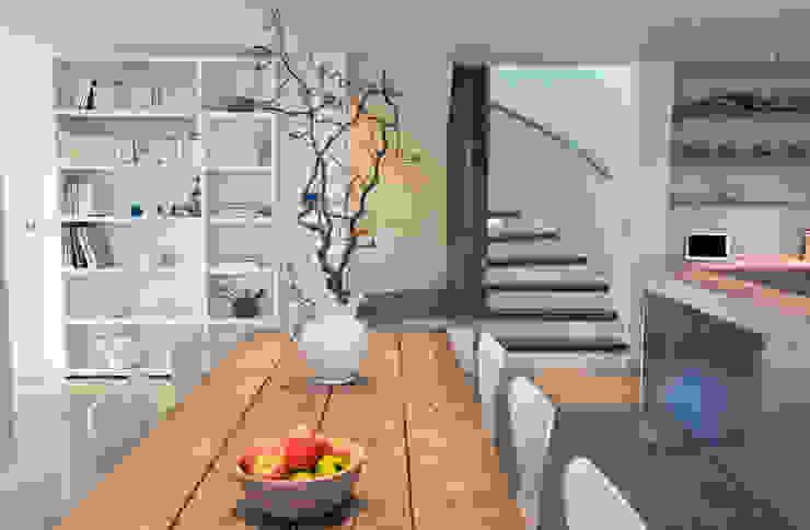 Les Bardeaux Salas de jantar modernas por JAMIE FALLA ARCHITECTURE Moderno