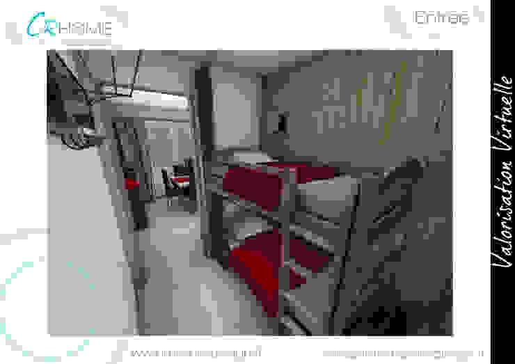 Entrée Couloir, entrée, escaliers rustiques par Crhome Design Rustique Bois Effet bois