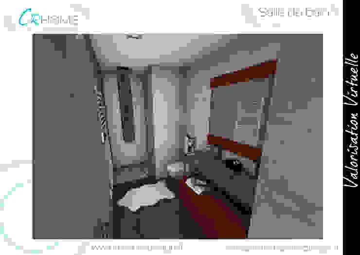 Salle de bain Salle de bain rustique par Crhome Design Rustique Grès