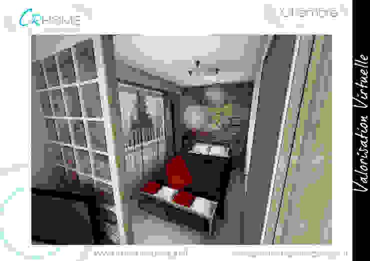 Chambre Chambre rustique par Crhome Design Rustique Pierre