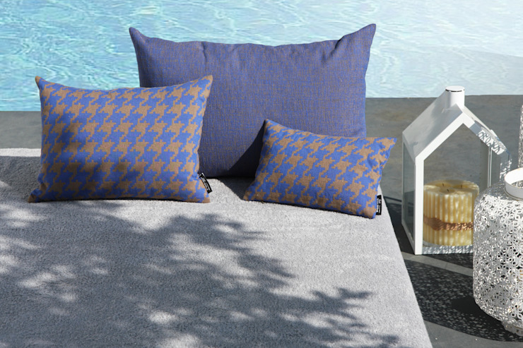 POEMO DESIGN Balconies, verandas & terraces Accessories & decoration Cotton Blue