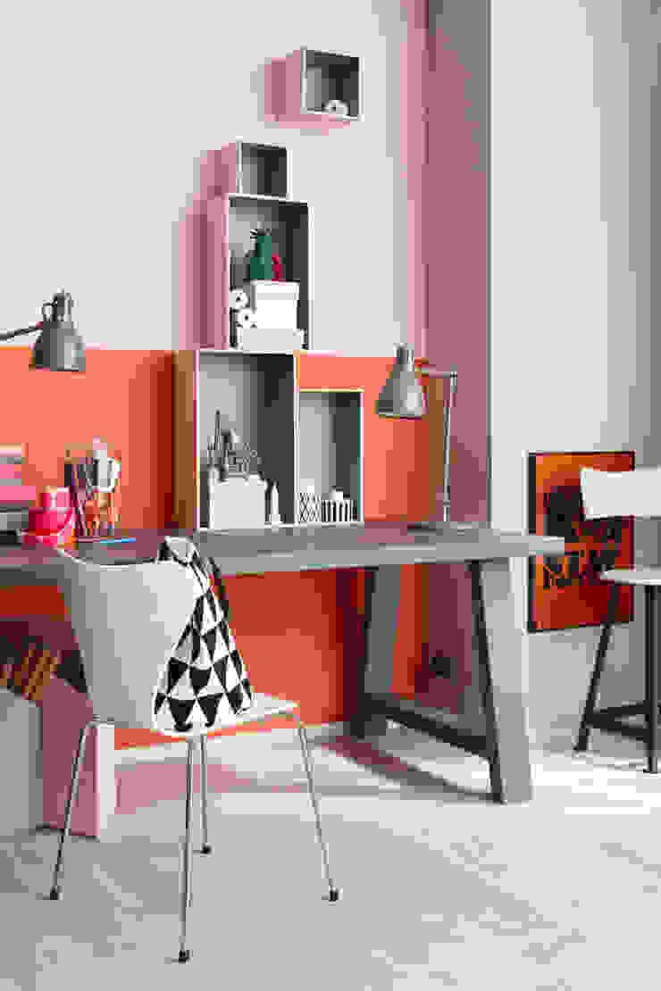 SCHÖNER WOHNEN-FARBE Modern style study/office Orange