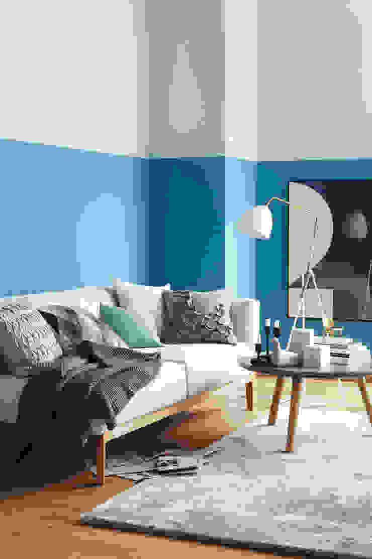 SCHÖNER WOHNEN-FARBE Living room Blue