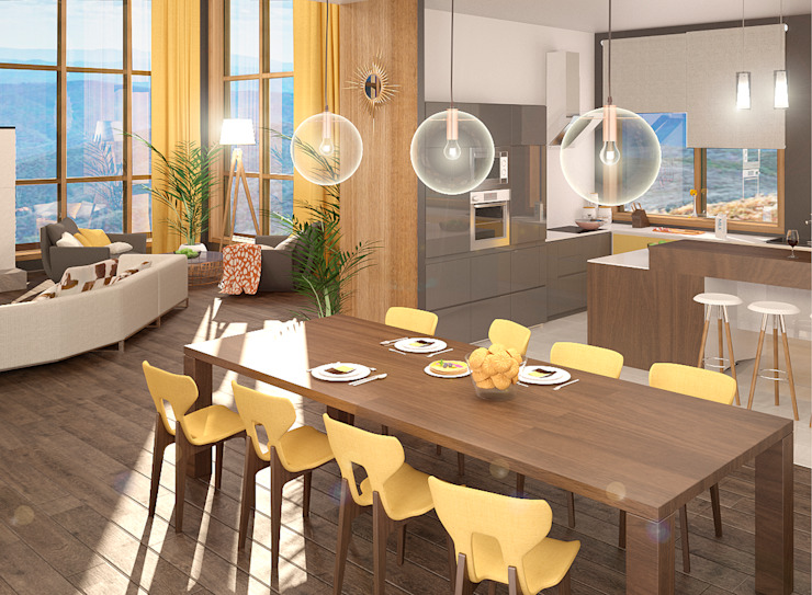Дом Столовая комната в стиле модерн от Chloe Design & Decor/Anastasia Baskakova Модерн