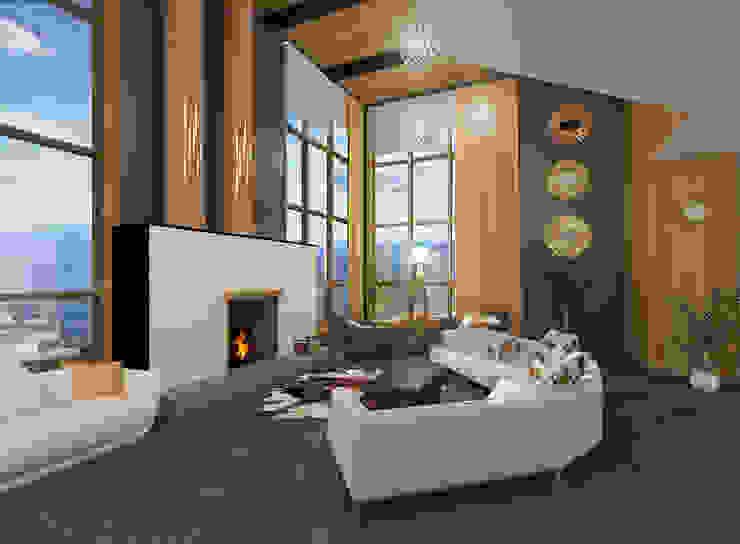 Дом Гостиная в стиле модерн от Chloe Design & Decor/Anastasia Baskakova Модерн