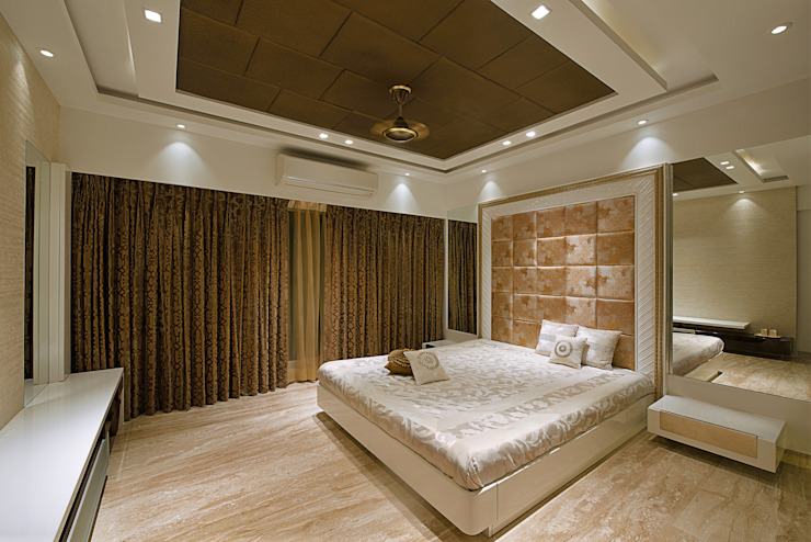 Residence at Khar Modern style bedroom by Milind Pai - Architects & Interior Designers Modern