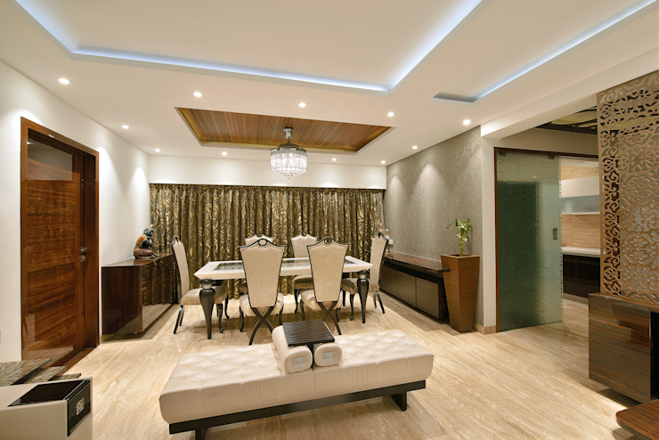 Residence at Khar Modern dining room by Milind Pai - Architects & Interior Designers Modern