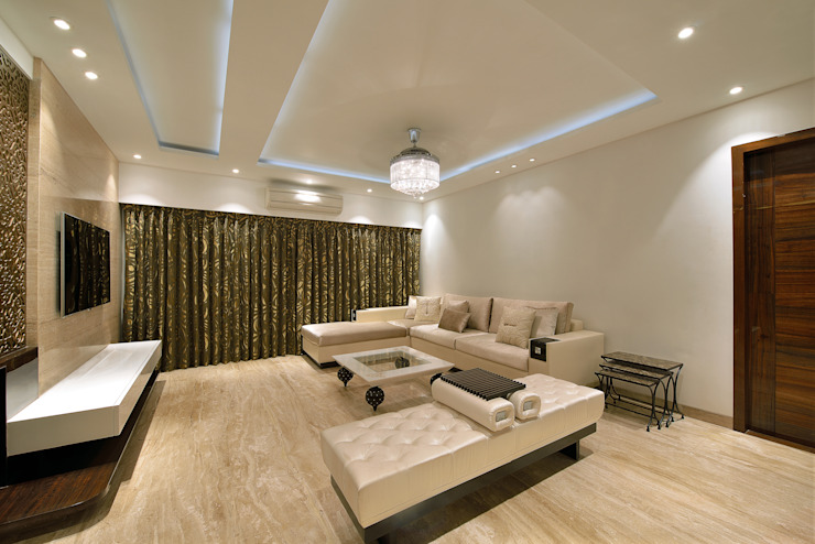 Residence at Khar Modern living room by Milind Pai - Architects & Interior Designers Modern