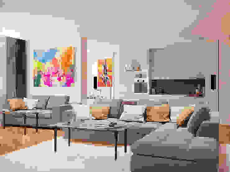 Modern Oturma Odası Tatiana Zaitseva Design Studio Modern
