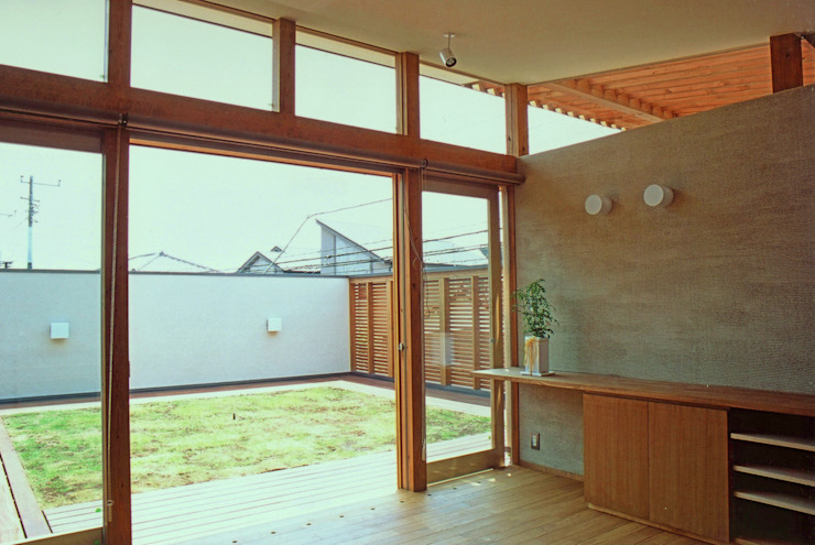 Eclectic style balcony, veranda & terrace by 環境創作室杉 Eclectic
