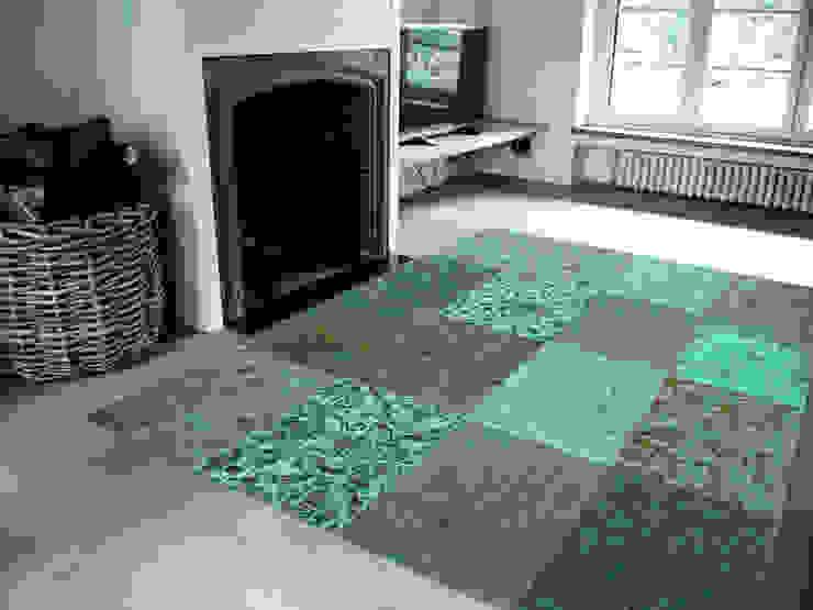 Patchwork - Sea Blue 8006 - Interior: modern  door louis de poortere, Modern
