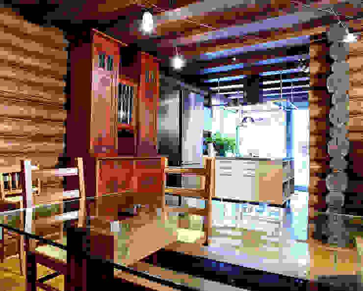 Баня в подмосковье Кухня в рустикальном стиле от ARP Studio Рустикальный