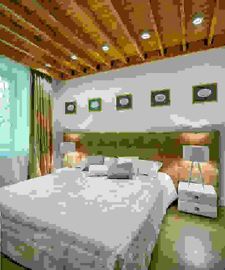 Апартаменты на Бирюзова Спальня в средиземноморском стиле от Дизайн-студия 'Вердиз' Средиземноморский
