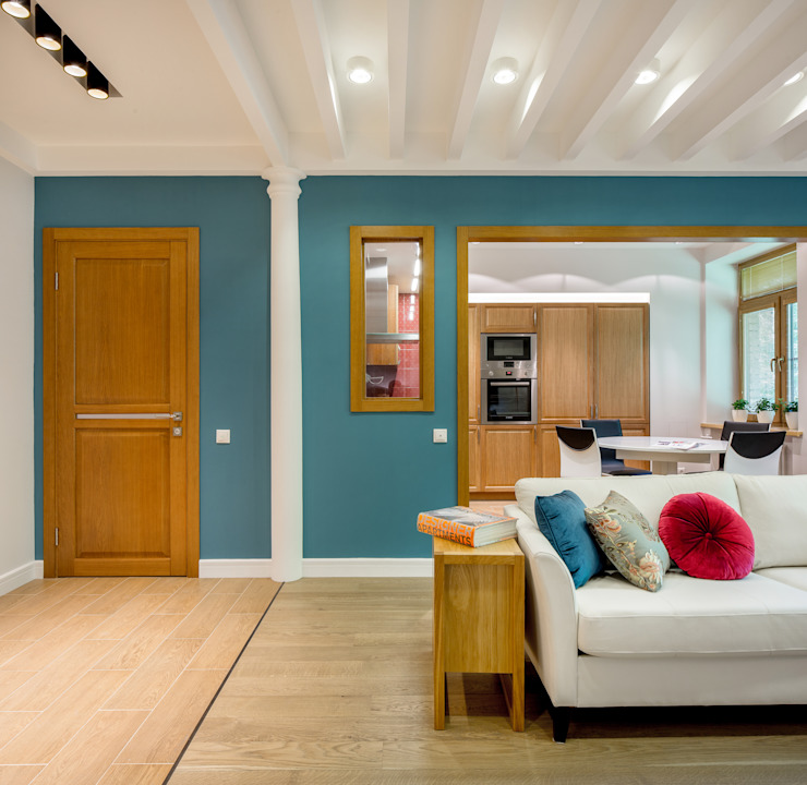 Апартаменты на Бирюзова Гостиная в средиземноморском стиле от Дизайн-студия 'Вердиз' Средиземноморский