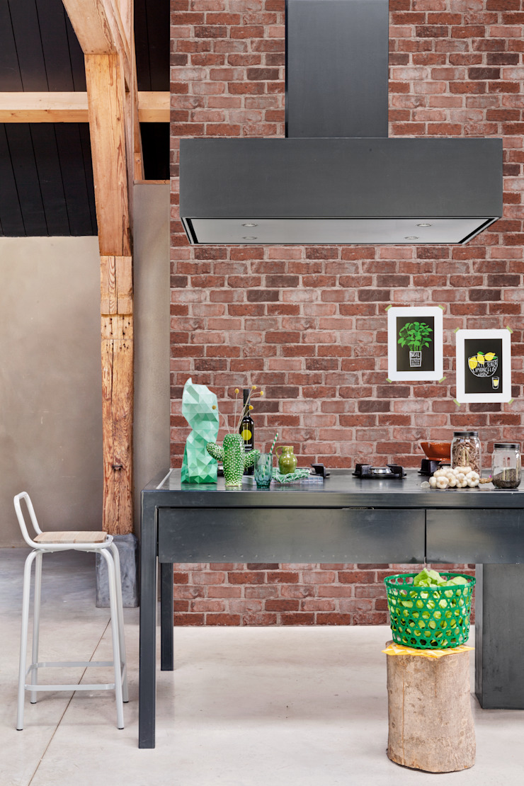 More than Elements: industrial  by Tektura Wallcoverings, Industrial