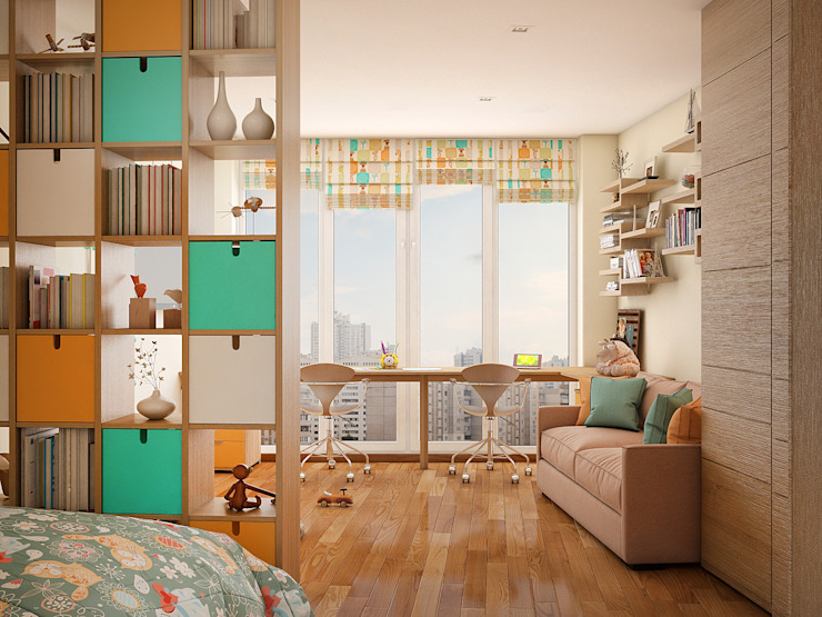 Tatiana Zaitseva Design Studio Nursery/kid's room