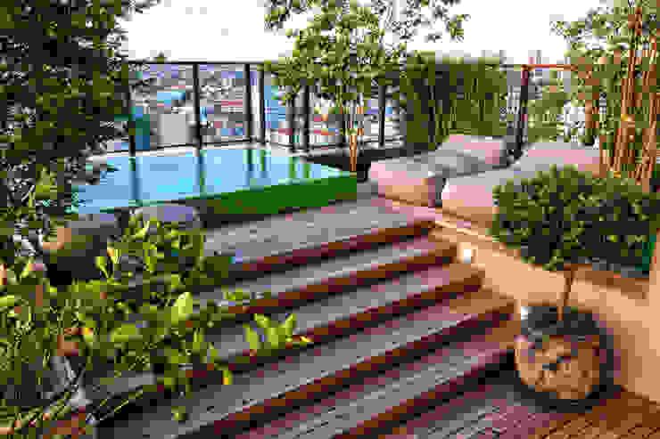 Modern Balkon, Veranda & Teras Tellini Vontobel Arquitetura Modern