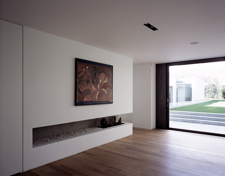 The Long House Minimalist living room by Keith Williams Architects Minimalist