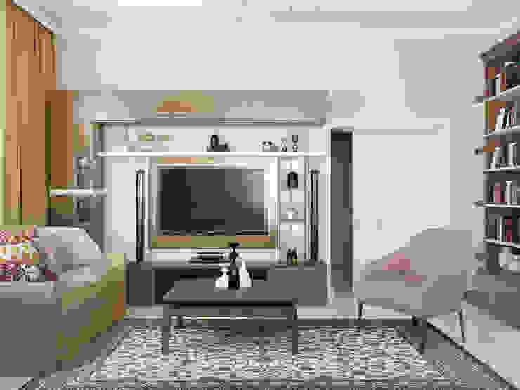 Классический интерьер с элементами ориентал и красивыми десткими Гостиная в стиле модерн от Tatiana Zaitseva Design Studio Модерн