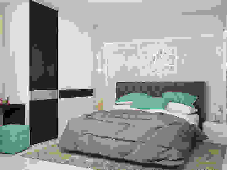 غرفة نوم تنفيذ Tatiana Zaitseva Design Studio,