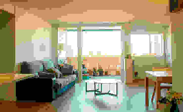 Salas Arquitectura+Diseño モダンデザインの リビング