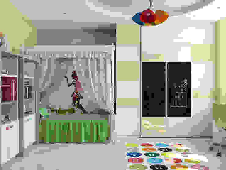 غرفة الاطفال تنفيذ Tatiana Zaitseva Design Studio, تبسيطي