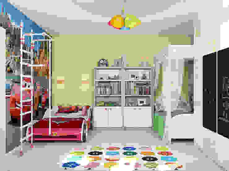 Minimalistyczny pokój dziecięcy od Tatiana Zaitseva Design Studio Minimalistyczny