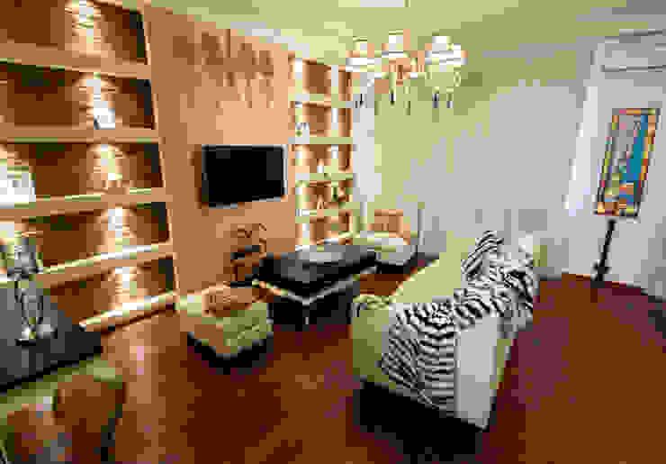 Квартира на Крупской (гостиная) Гостиная в стиле лофт от Дизайн-студия «ARTof3L» Лофт