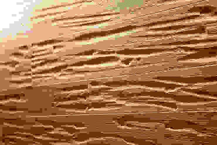 Boiserie in rovere Pareti & Pavimenti in stile moderno di Semplicemente Legno Moderno Legno Effetto legno