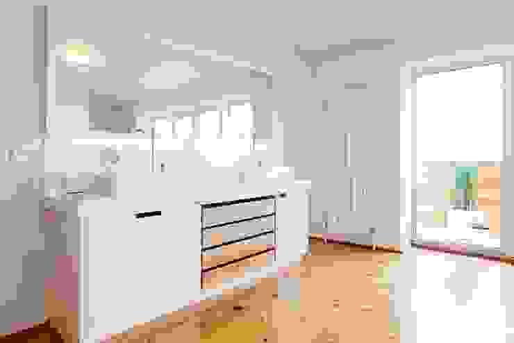 Маньчжурская рейка Ванная комната в стиле минимализм от Concrete jungle Минимализм