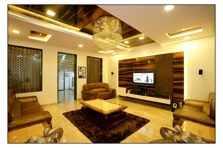 modern  by sayyam interiors., Modern Wood Wood effect
