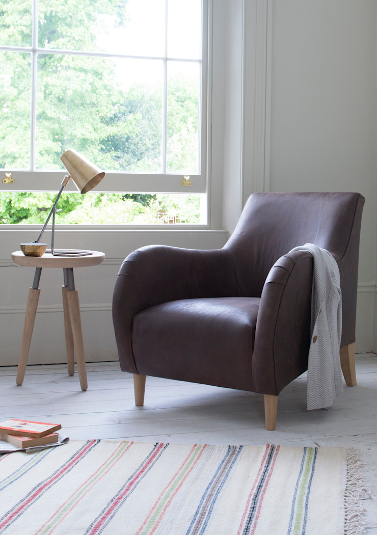 Buster club chair : classic  by Loaf, Classic Leather Grey