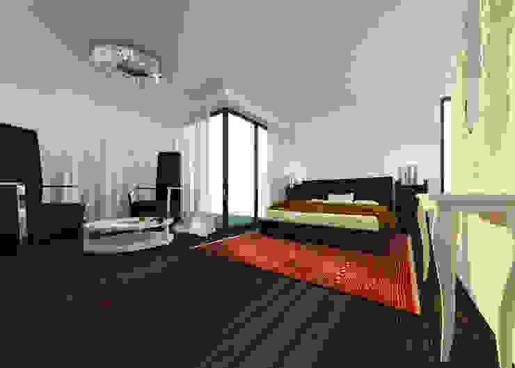 Дом в Хорватии Спальня в эклектичном стиле от FAOMI Эклектичный
