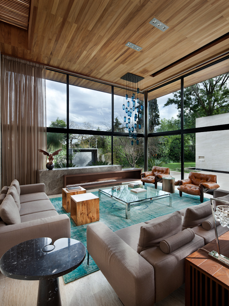 Sala Salas de estilo moderno de C Cúbica Arquitectos Moderno