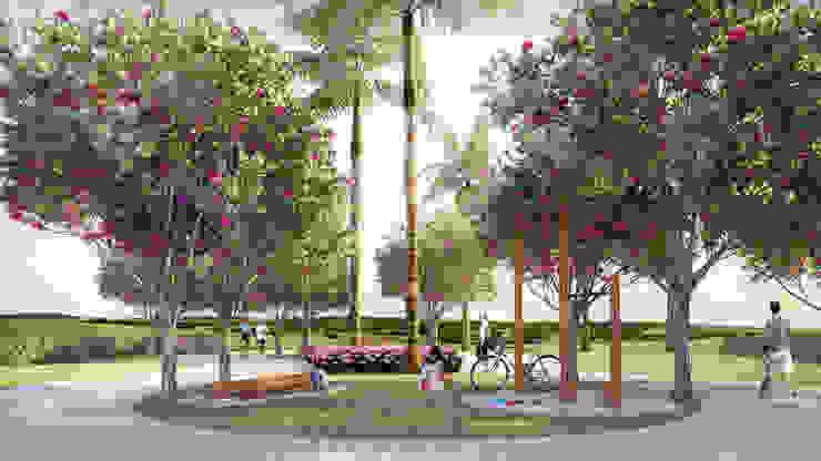Estação de alongamento para condomínio Jardins campestres por Roncato Paisagismo e Comércio de Plantas Ltda Campestre