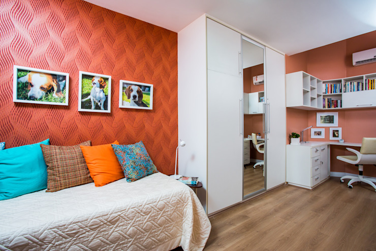 Modern Yatak Odası Milla Holtz & Bruno Sgrillo Arquitetura Modern