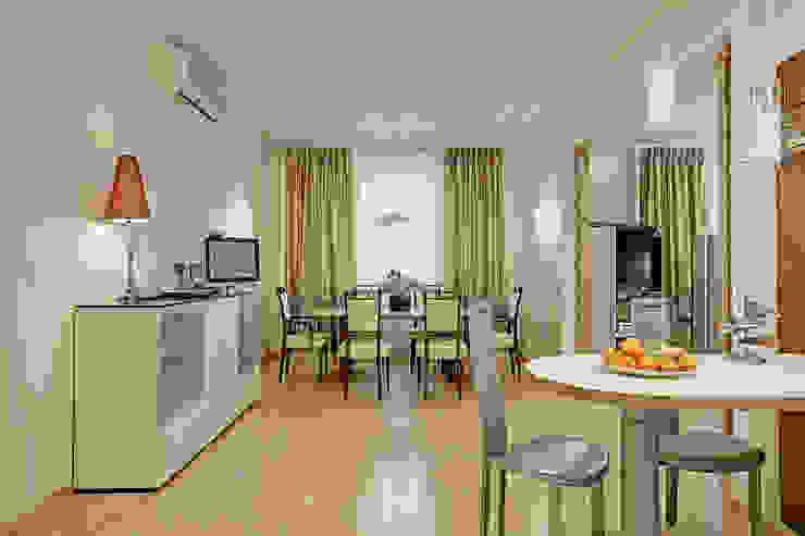 D&T Architects Minimalist dining room