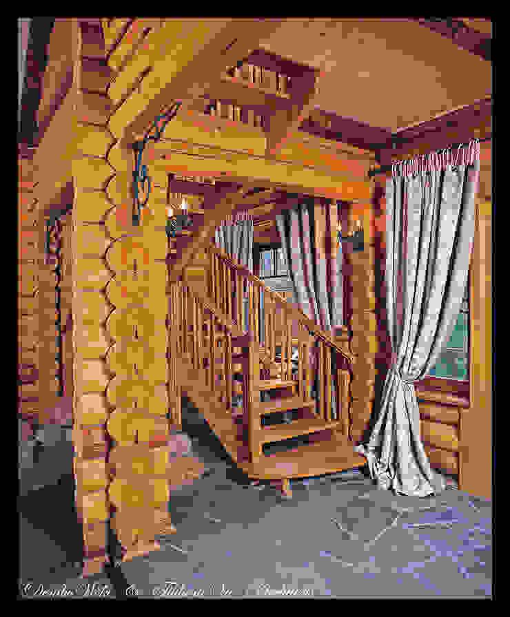 В гостях у сказки Коридор, прихожая и лестница в стиле кантри от D&T Architects Кантри