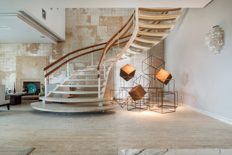Residência Itaim Bibi Corredores, halls e escadas modernos por Denise Barretto Arquitetura Moderno