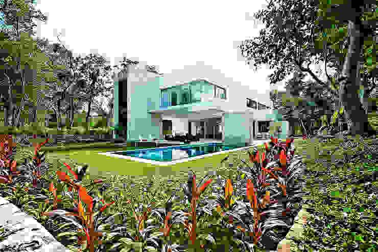 Jardin moderne par Enrique Cabrera Arquitecto Moderne