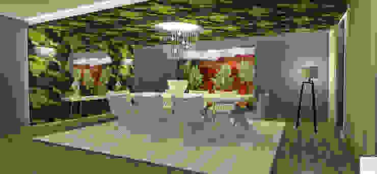 Sala de jantar do 04 quartos Salas de jantar modernas por Rangel & Bonicelli Design de Interiores Bioenergético Moderno