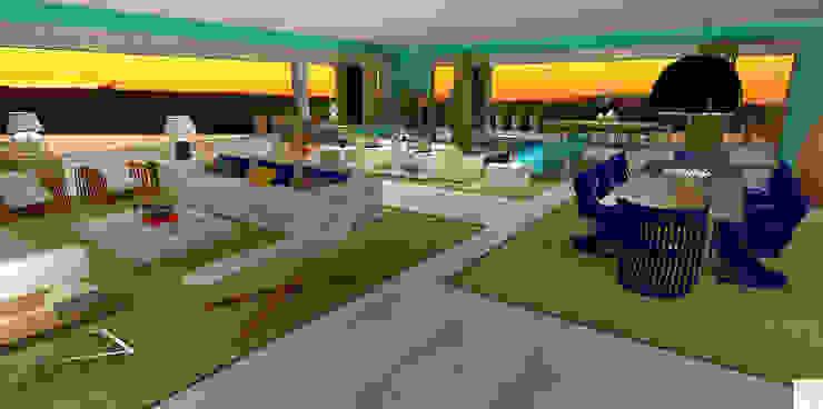 A casa de praia Salas de estar modernas por Rangel & Bonicelli Design de Interiores Bioenergético Moderno
