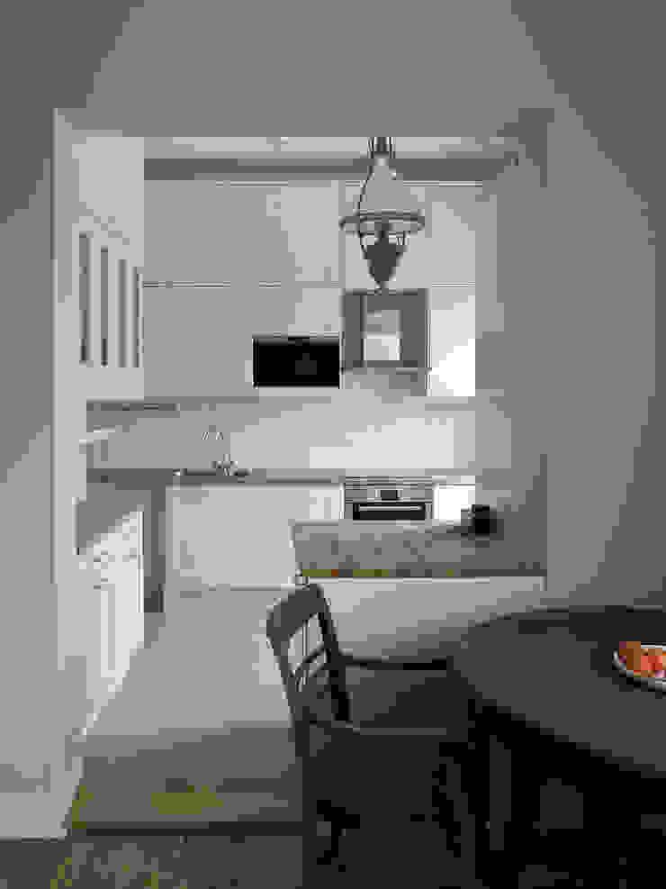 Apartament – Sopot Klasyczna kuchnia od t Klasyczny