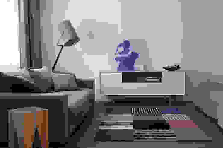 Однушка Гостиная в скандинавском стиле от Lugerin Architects Скандинавский