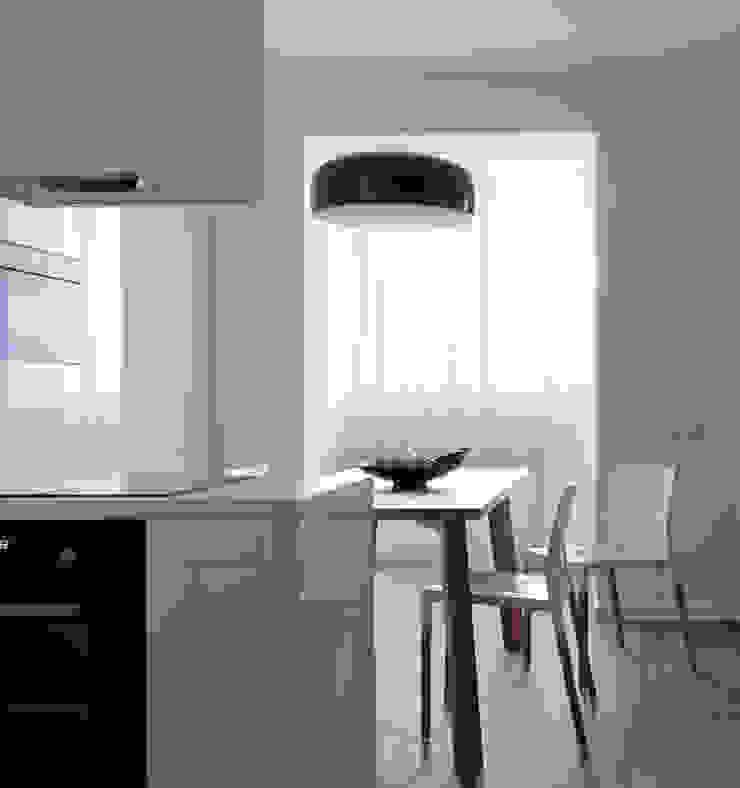 Однушка Кухня в скандинавском стиле от Lugerin Architects Скандинавский