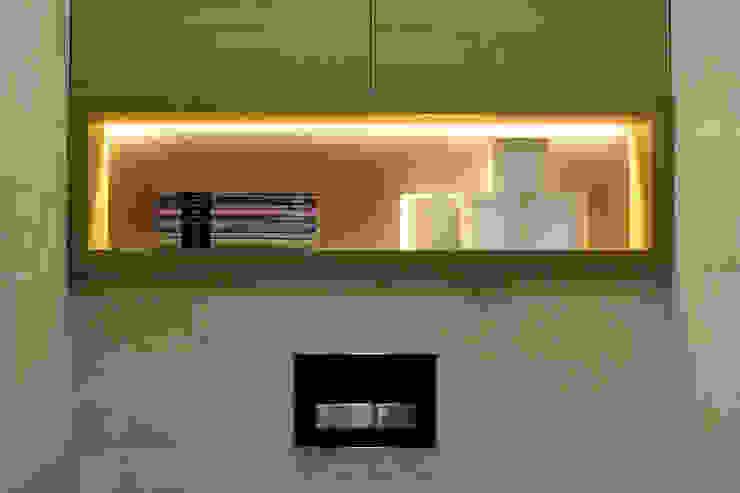 Однушка Ванная комната в скандинавском стиле от Lugerin Architects Скандинавский
