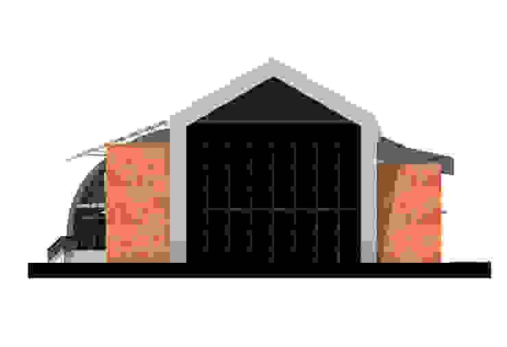 Юго-восточный фасад Дома в стиле лофт от CHM architect Лофт
