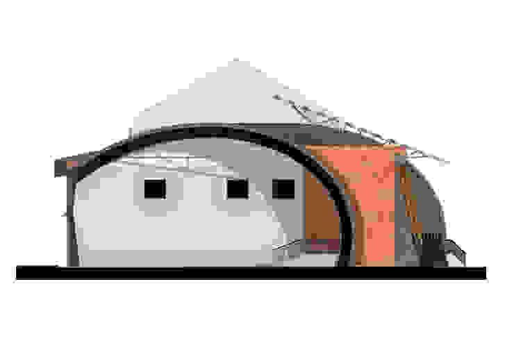 Северо-западный фасад Дома в стиле лофт от CHM architect Лофт