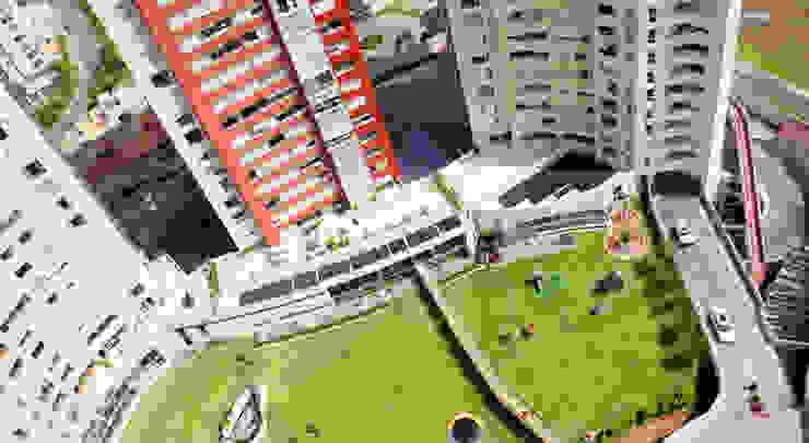 Residencial Aquario Jardines modernos de Grupo Nodus Arquitectos Moderno