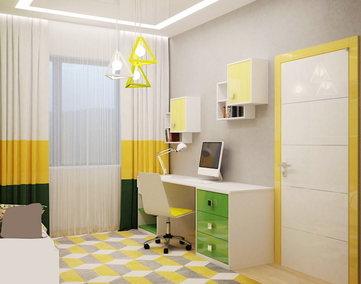 Quarto infantil moderno por Студия дизайна Interior Design IDEAS Moderno